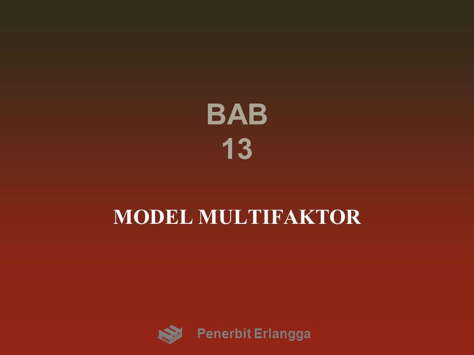 BAB 13 MODEL MULTIFAKTOR Penerbit Erlangga