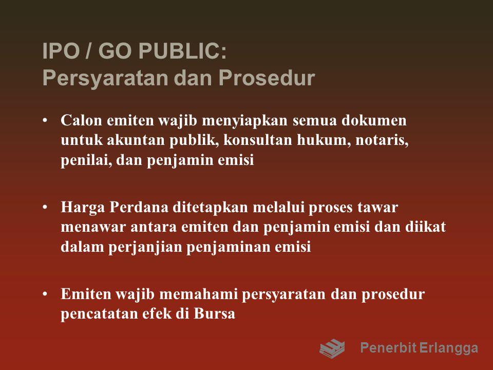 IPO / GO PUBLIC: Persyaratan dan Prosedur