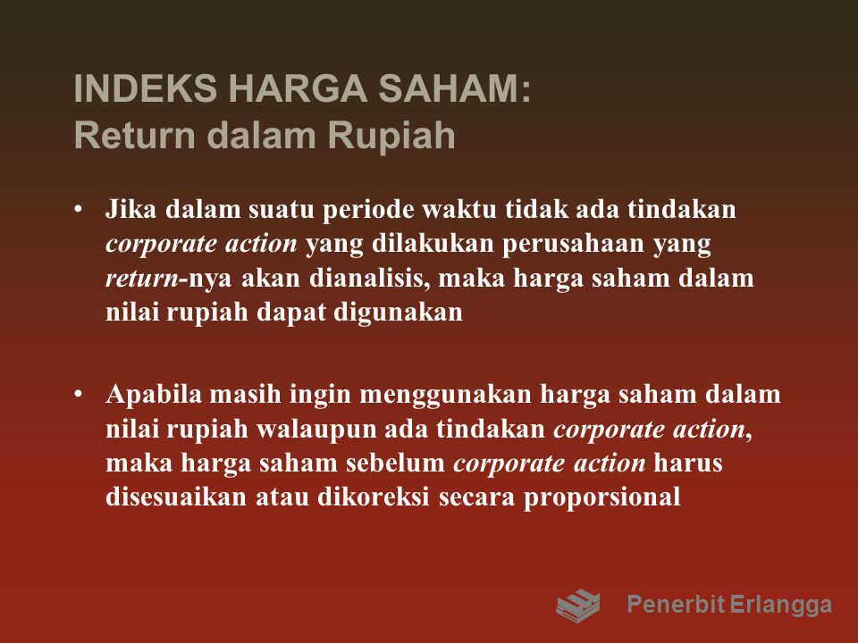 INDEKS HARGA SAHAM: Return dalam Rupiah
