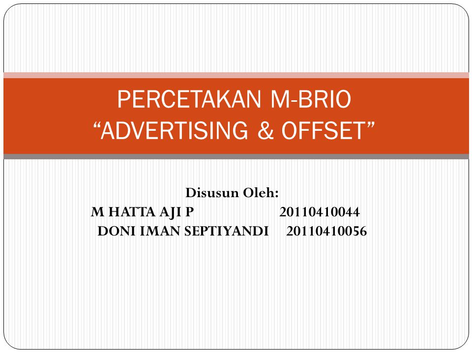 PERCETAKAN M-BRIO ADVERTISING & OFFSET