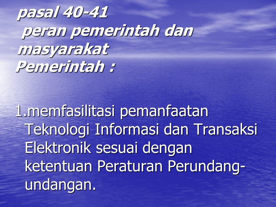 pasal 40-41 peran pemerintah dan masyarakat