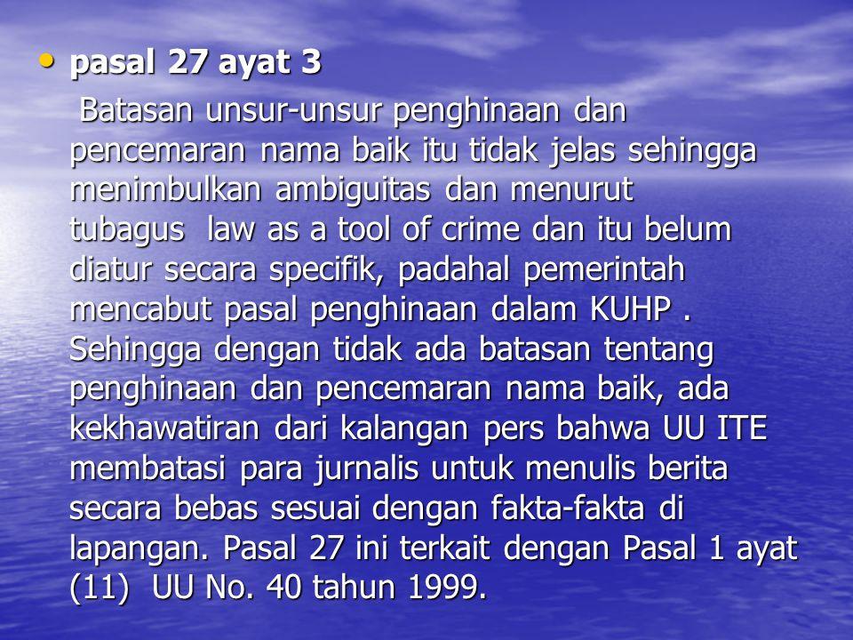 pasal 27 ayat 3
