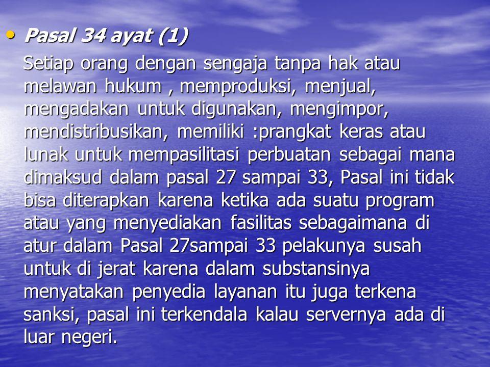 Pasal 34 ayat (1)