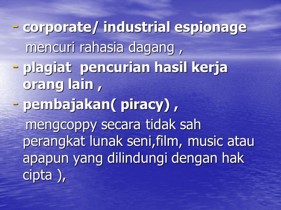 corporate/ industrial espionage