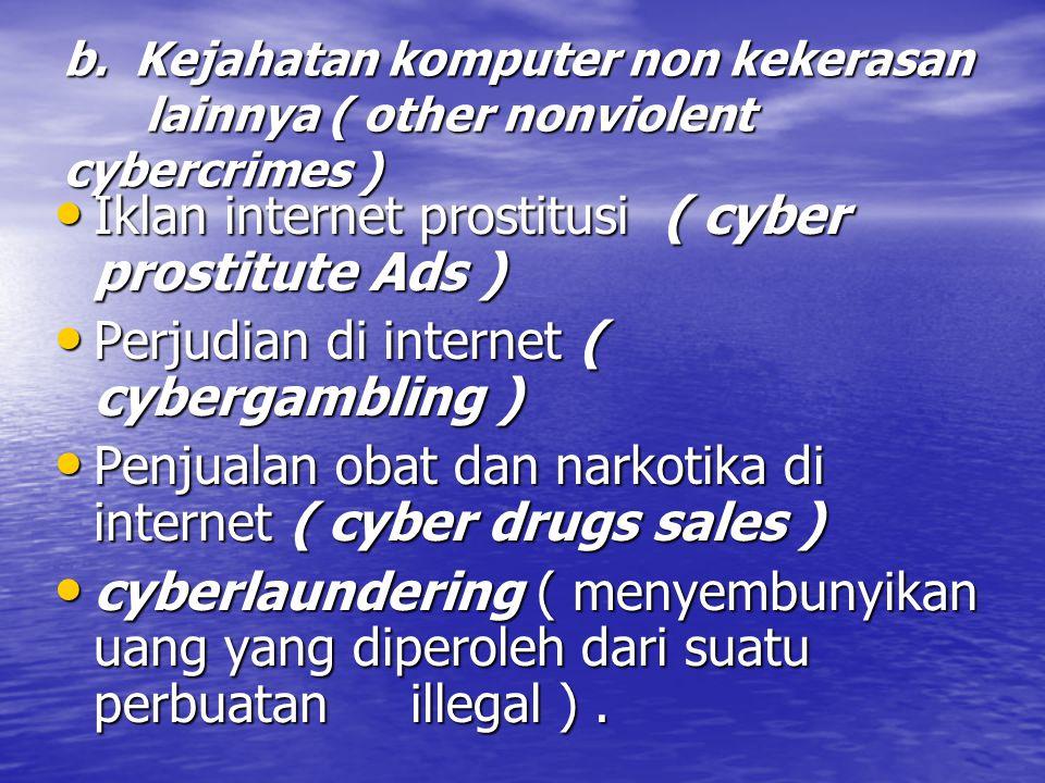 Iklan internet prostitusi ( cyber prostitute Ads )