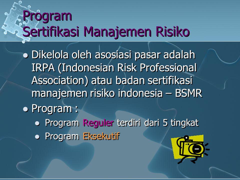 Program Sertifikasi Manajemen Risiko