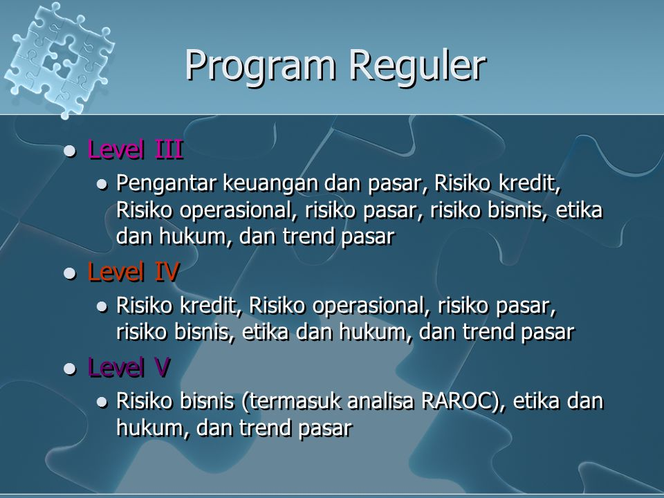 Program Reguler Level III Level IV Level V