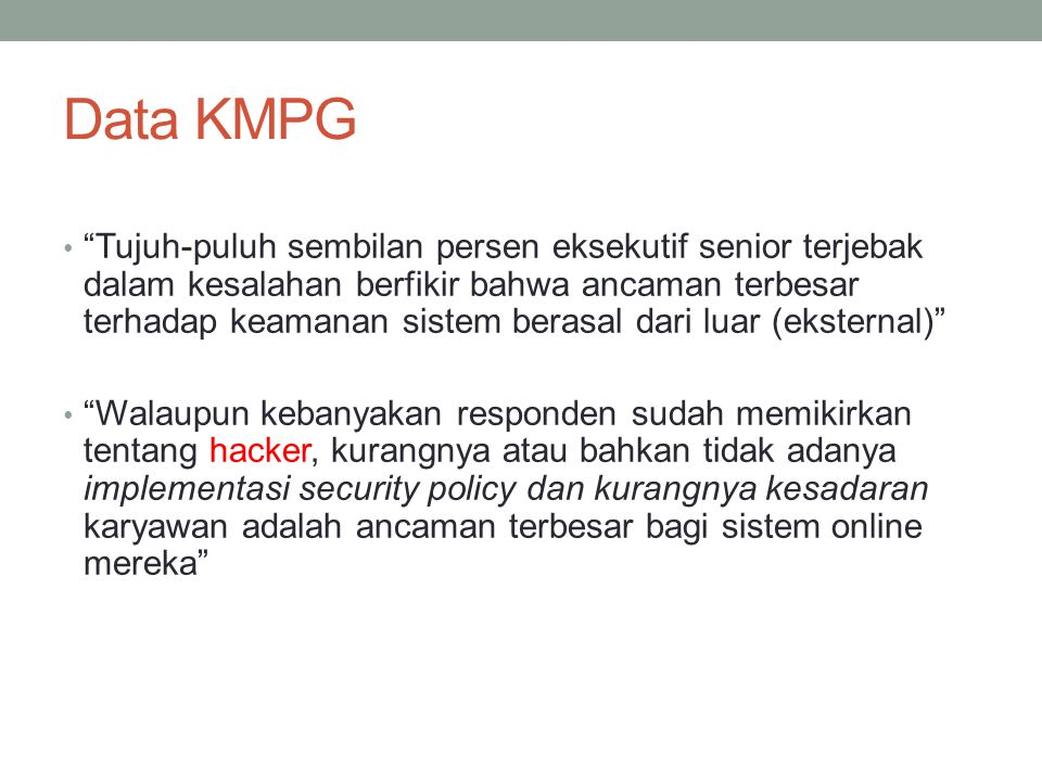 Data KMPG