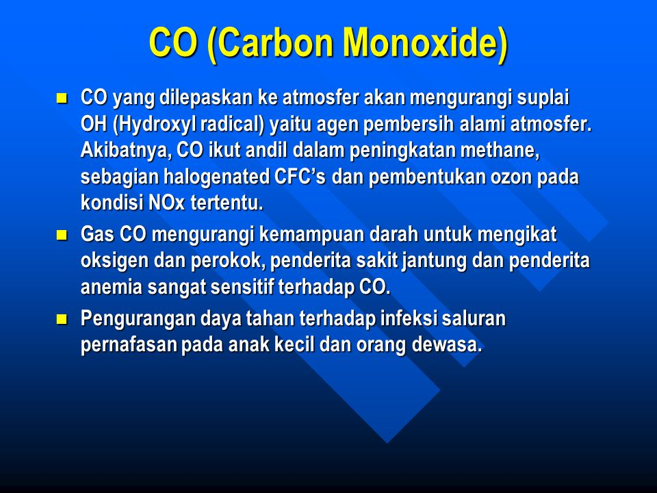 CO (Carbon Monoxide)