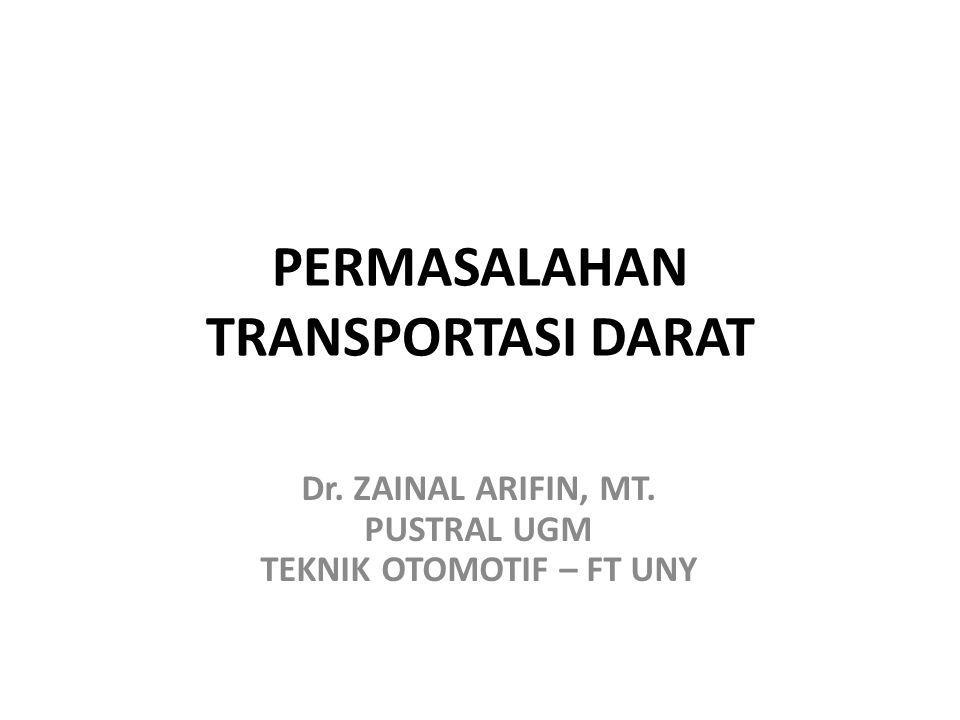 PERMASALAHAN TRANSPORTASI DARAT