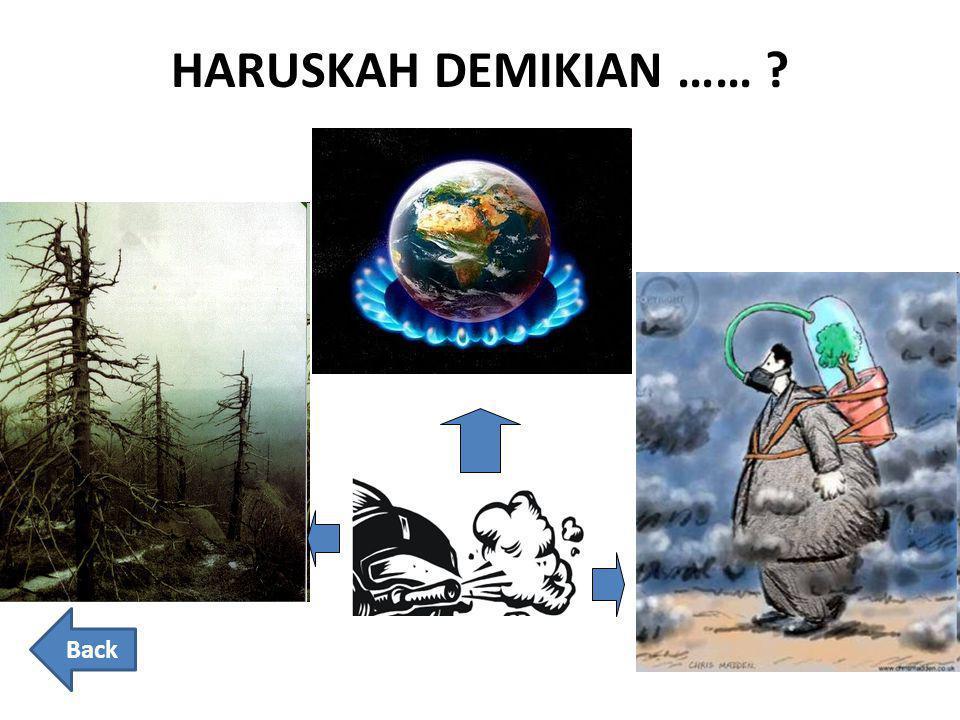 HARUSKAH DEMIKIAN …… Back
