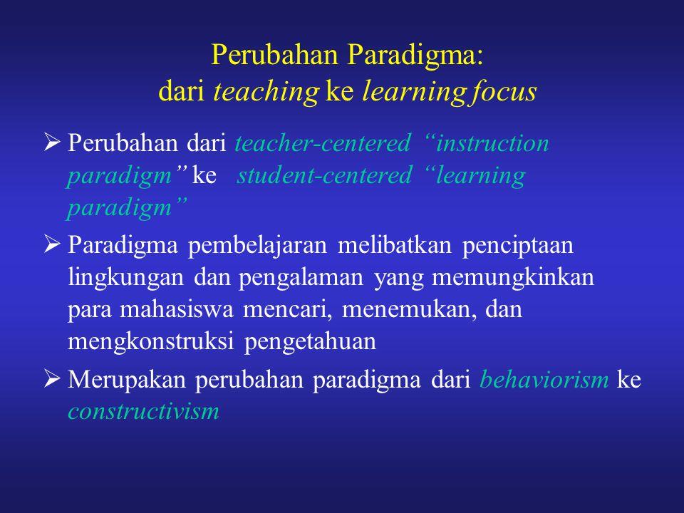 Perubahan Paradigma: dari teaching ke learning focus