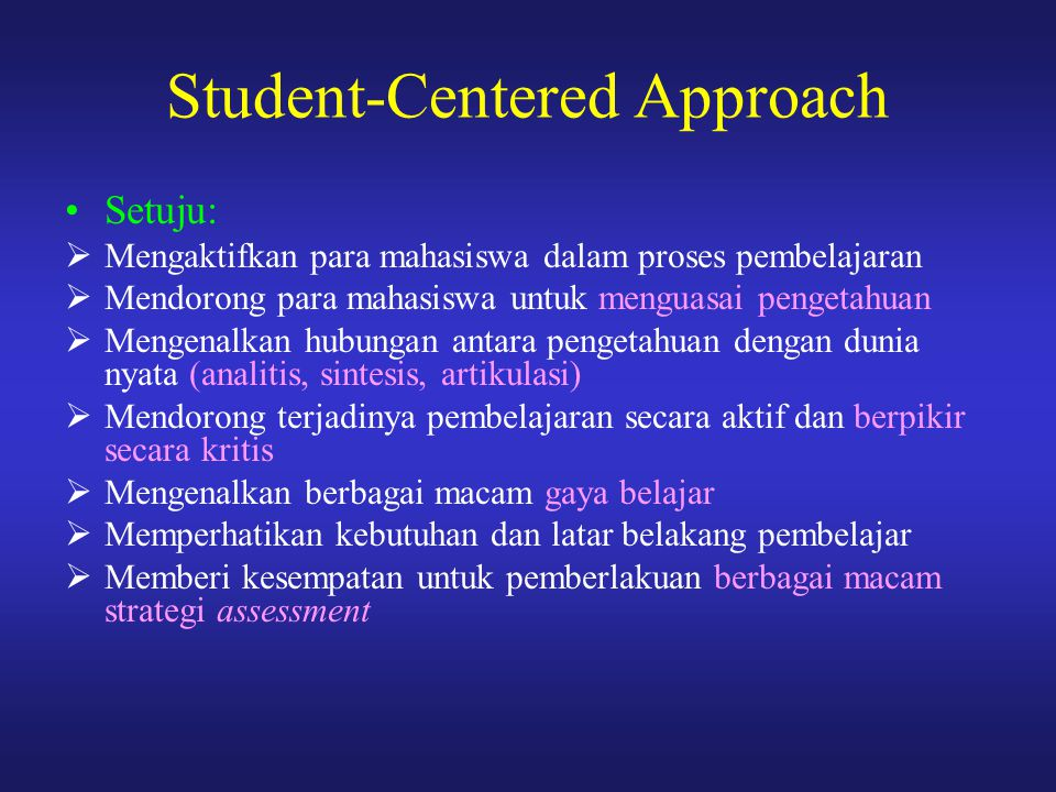 Student-Centered Approach