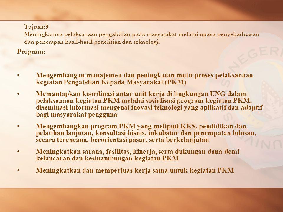 Meningkatkan dan memperluas kerja sama untuk kegiatan PKM