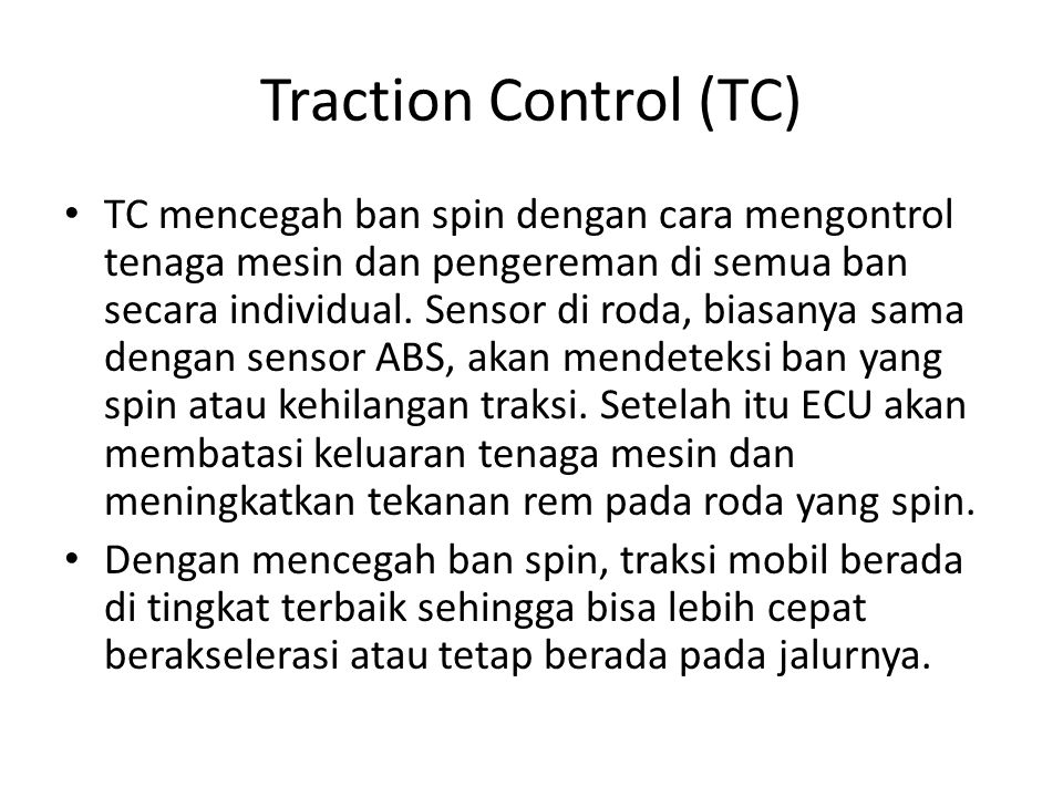 Traction Control (TC)