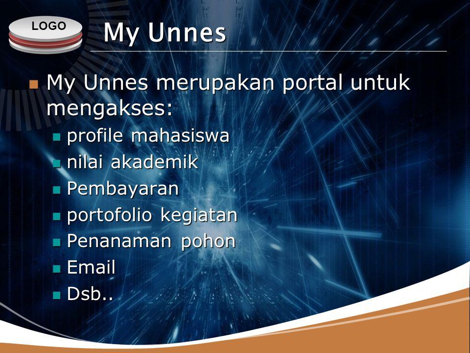 My Unnes My Unnes merupakan portal untuk mengakses: profile mahasiswa