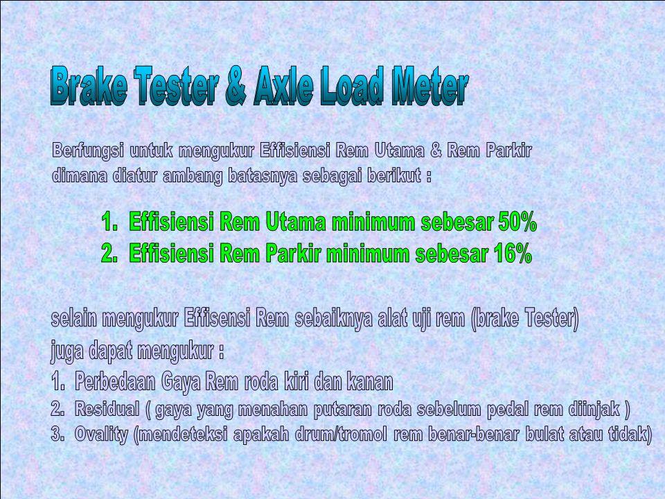 Brake Tester & Axle Load Meter Brake Tester & Axle Load Meter