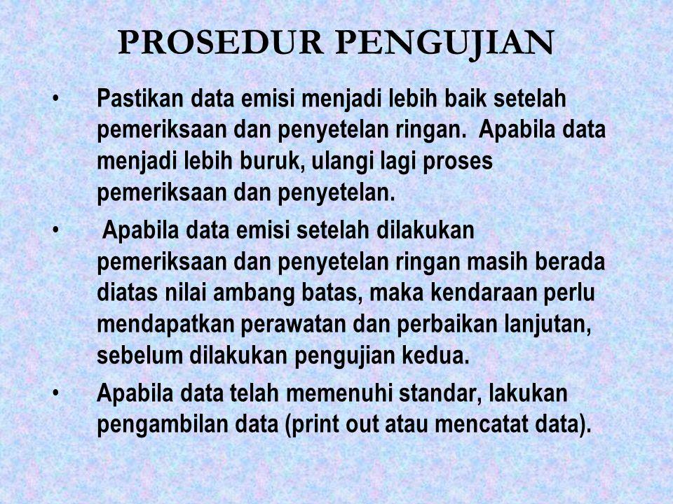 PROSEDUR PENGUJIAN
