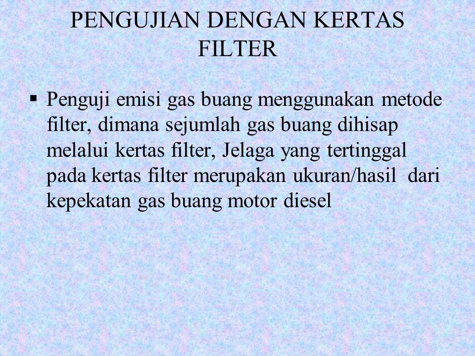 PENGUJIAN DENGAN KERTAS FILTER