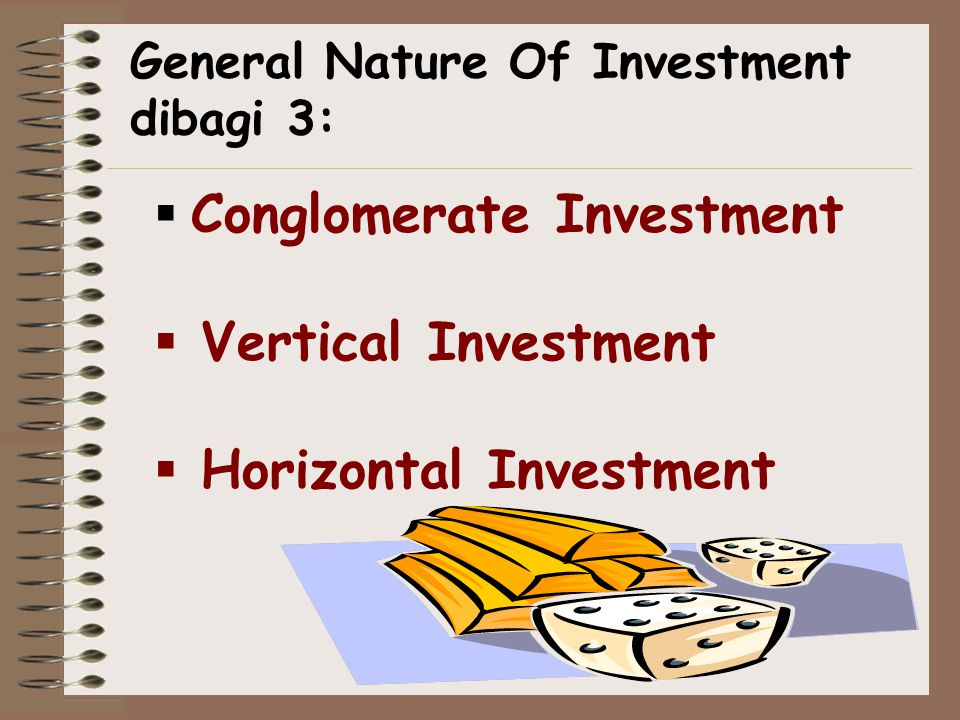Conglomerate Investment Vertical Investment Horizontal Investment