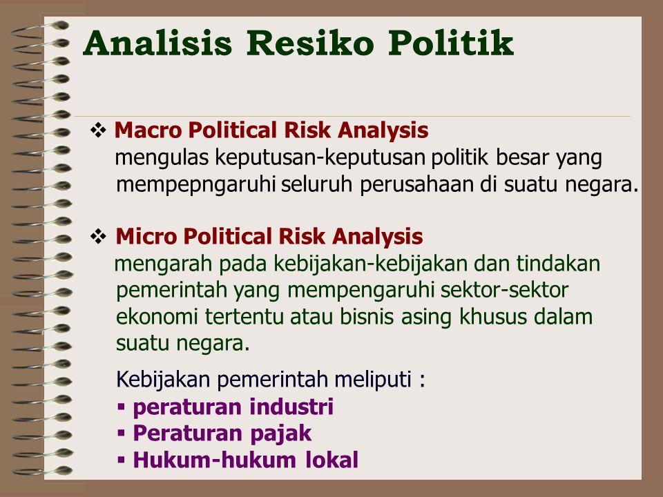 Analisis Resiko Politik
