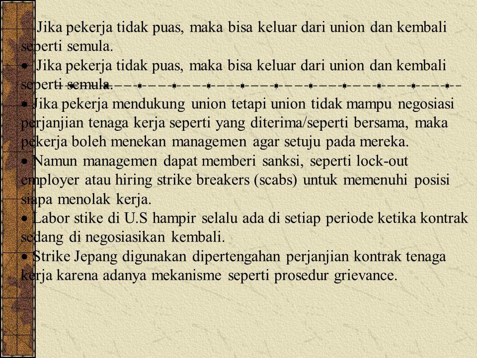 Jika pekerja tidak puas, maka bisa keluar dari union dan kembali seperti semula.