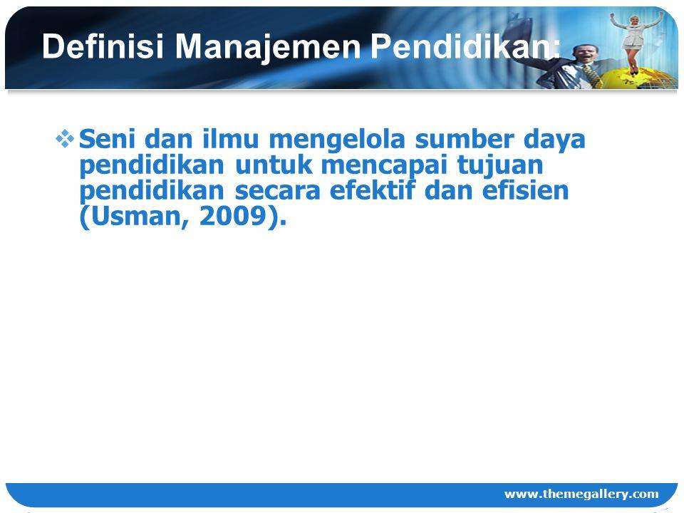Definisi Manajemen Pendidikan: