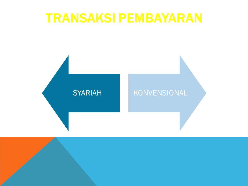 TRANSAKSI PEMBAYARAN SYARIAH KONVENSIONAL