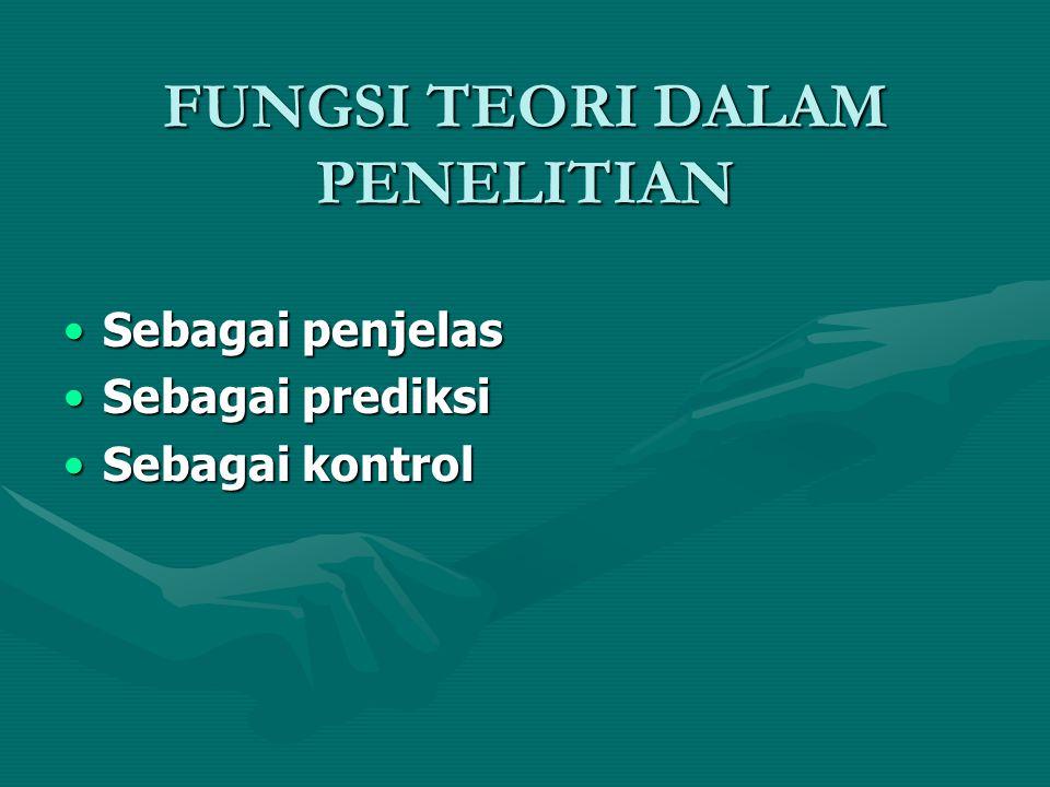 FUNGSI TEORI DALAM PENELITIAN