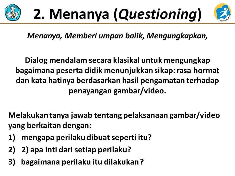 2. Menanya (Questioning)