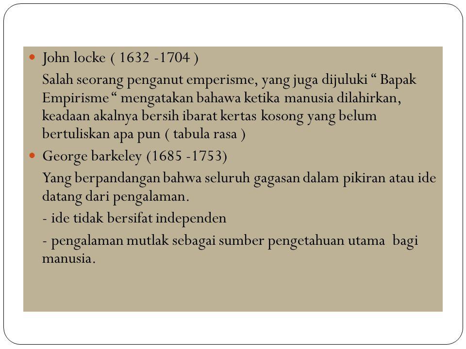 John locke ( 1632 -1704 )