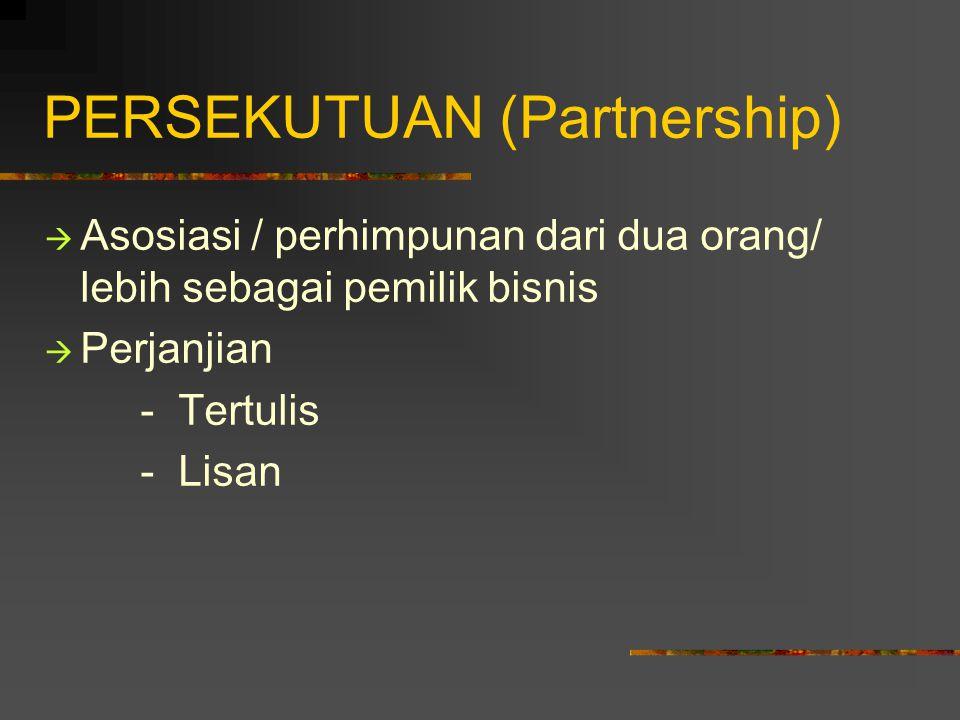 PERSEKUTUAN (Partnership)