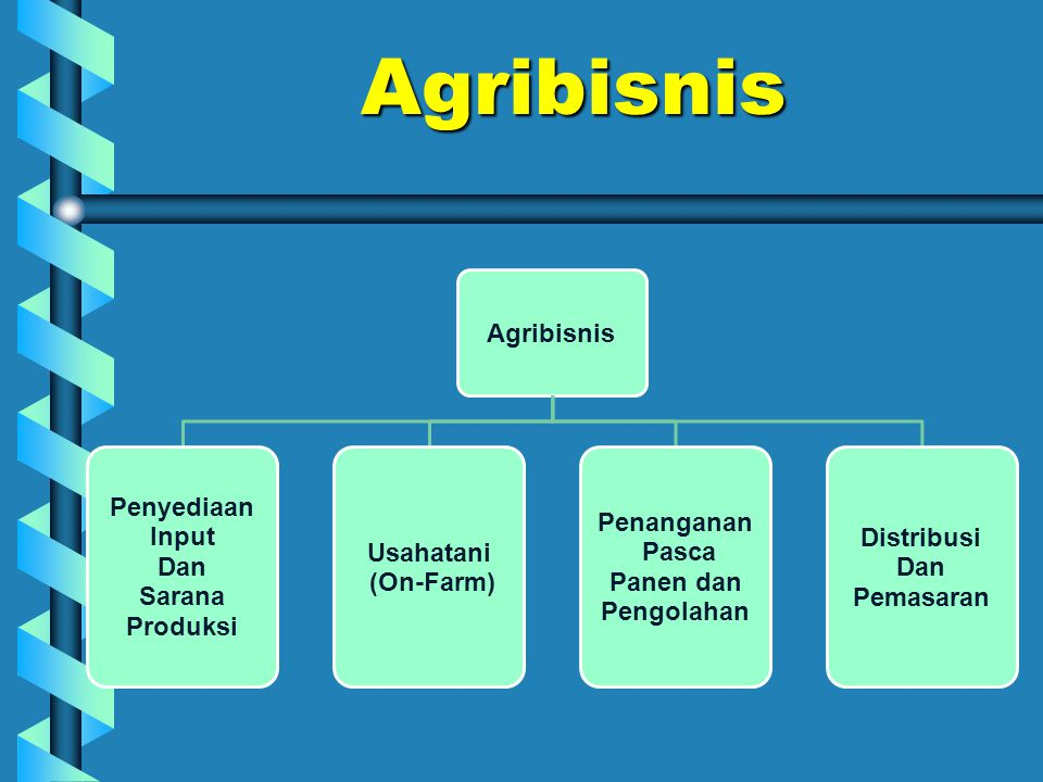 Agribisnis Agribisnis Penyediaan Input Dan Sarana Produksi Usahatani