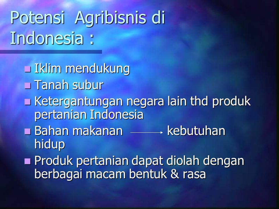 Potensi Agribisnis di Indonesia :
