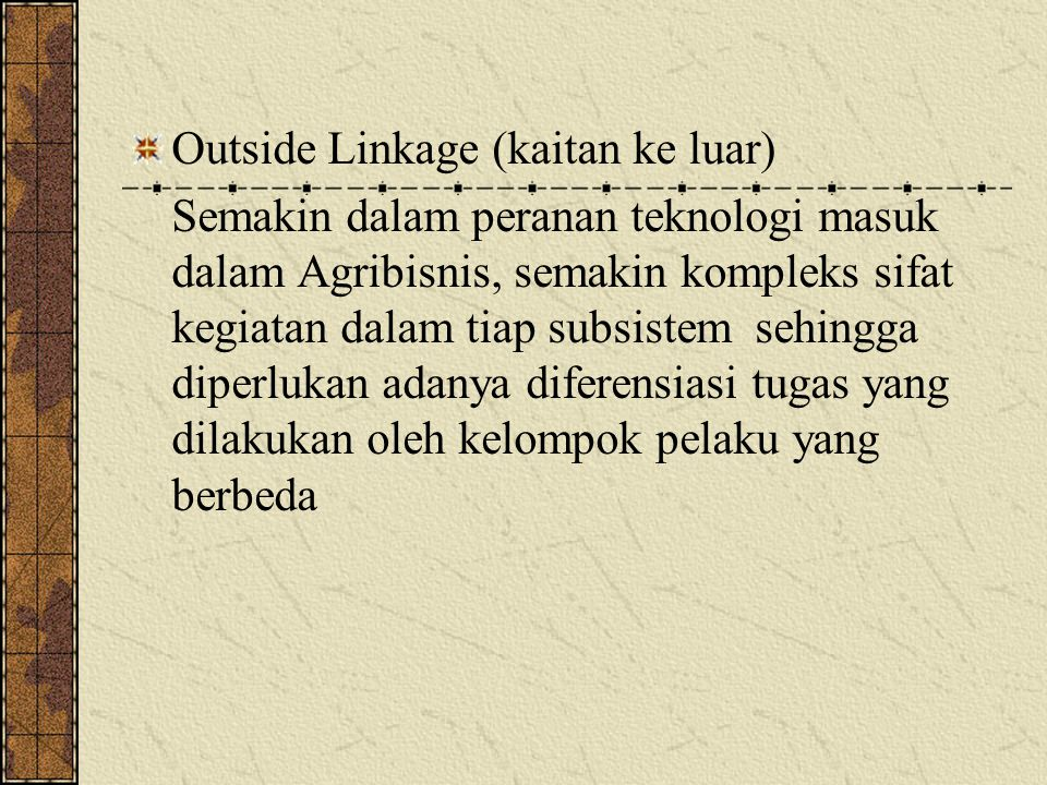 Outside Linkage (kaitan ke luar)