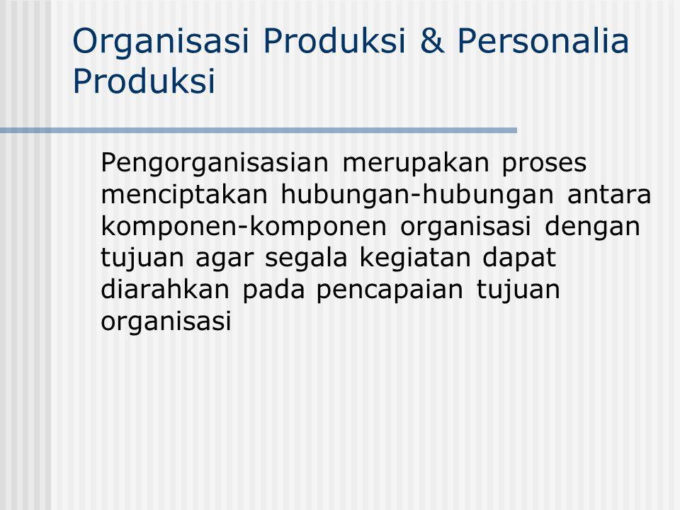 Organisasi Produksi & Personalia Produksi