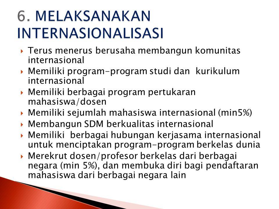 6. MELAKSANAKAN INTERNASIONALISASI