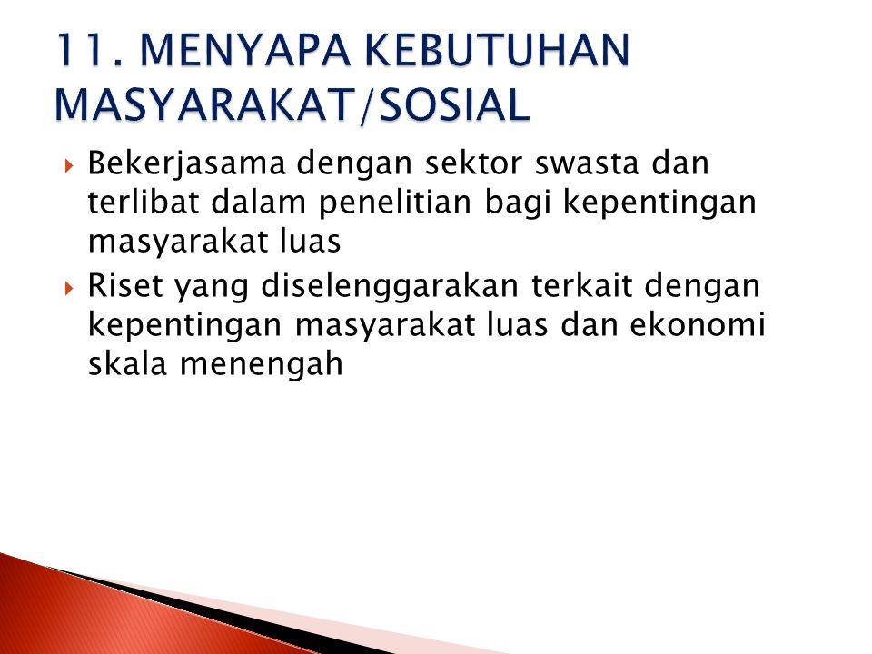 11. MENYAPA KEBUTUHAN MASYARAKAT/SOSIAL
