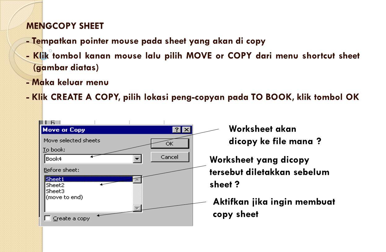 Worksheet akan dicopy ke file mana
