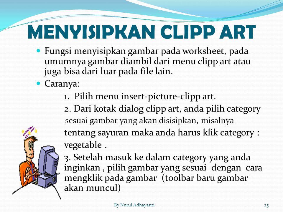 MENYISIPKAN CLIPP ART