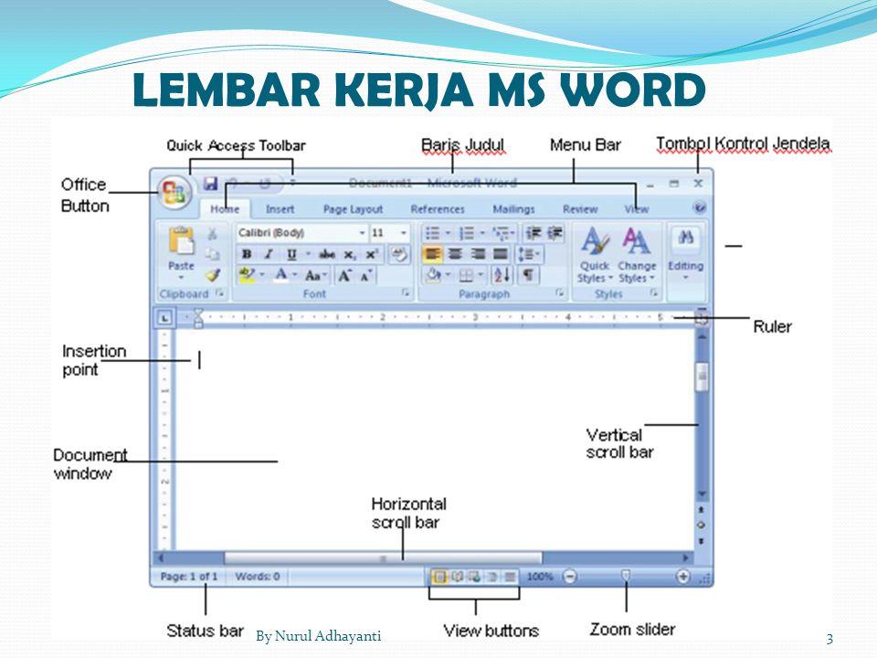 LEMBAR KERJA MS WORD By Nurul Adhayanti