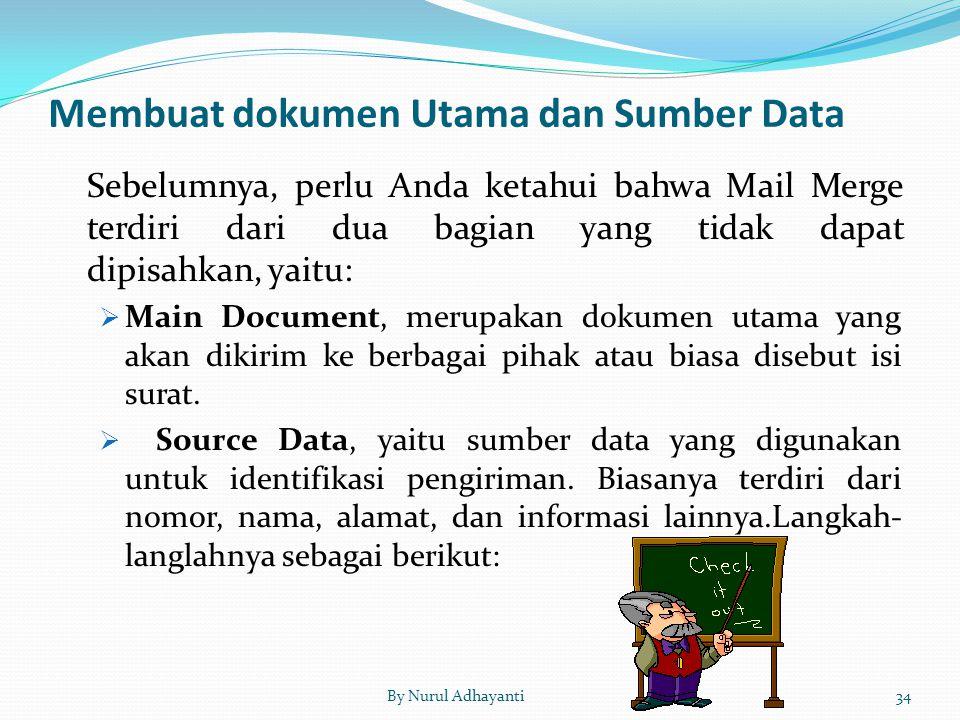Membuat dokumen Utama dan Sumber Data