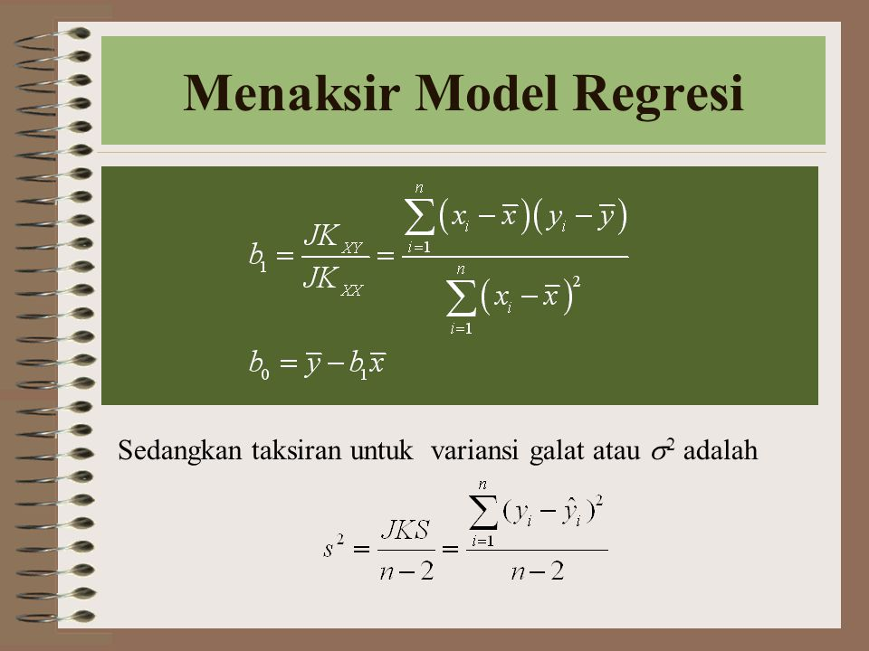 Menaksir Model Regresi