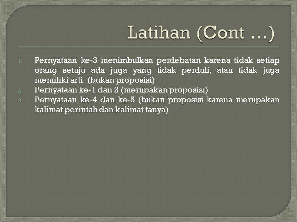 Latihan (Cont …)