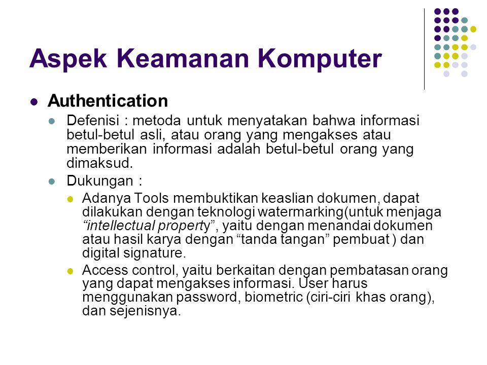 Aspek Keamanan Komputer