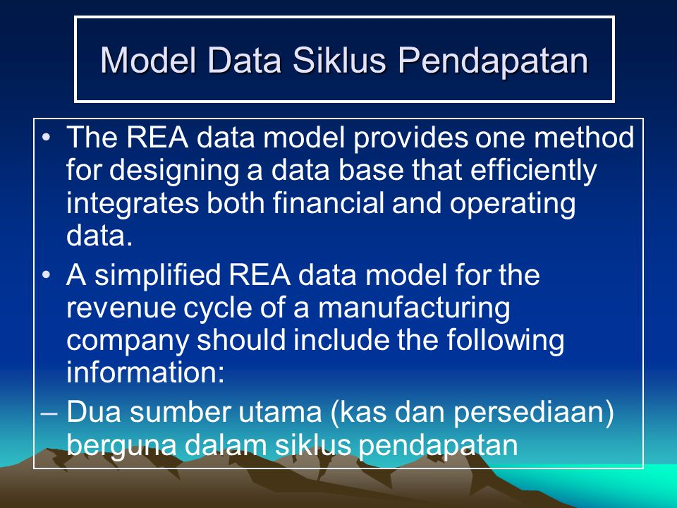 Model Data Siklus Pendapatan