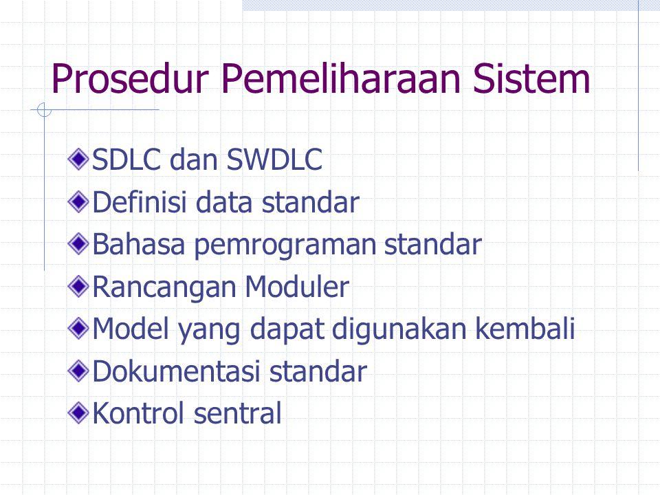 Prosedur Pemeliharaan Sistem