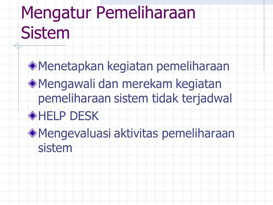 Mengatur Pemeliharaan Sistem