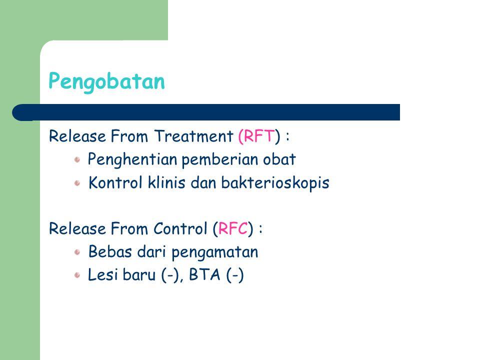 Pengobatan Release From Treatment (RFT) : Penghentian pemberian obat