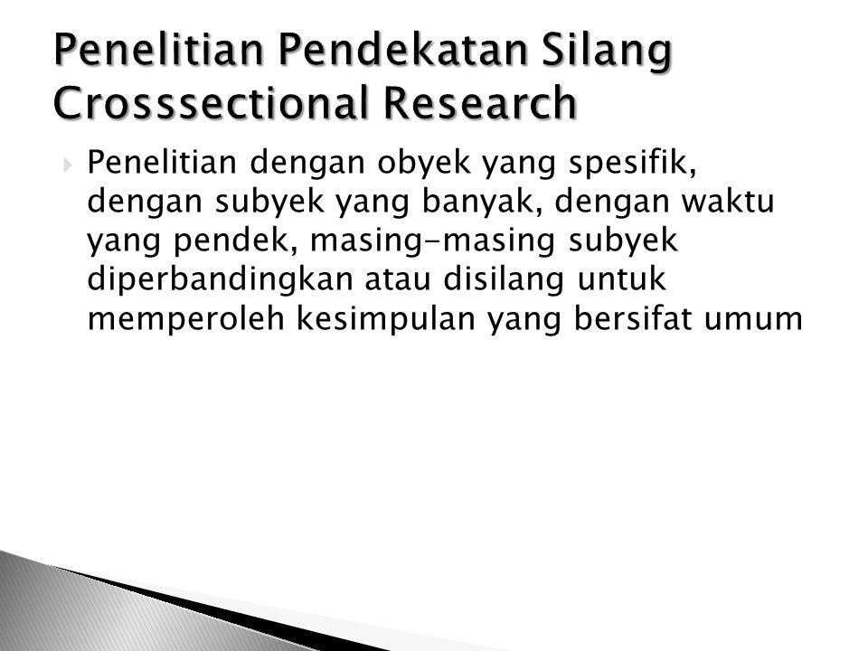 Penelitian Pendekatan Silang Crosssectional Research
